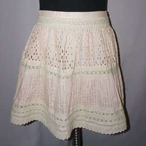 Zara TRF Collection Eyelet and Lace Skirt - 4